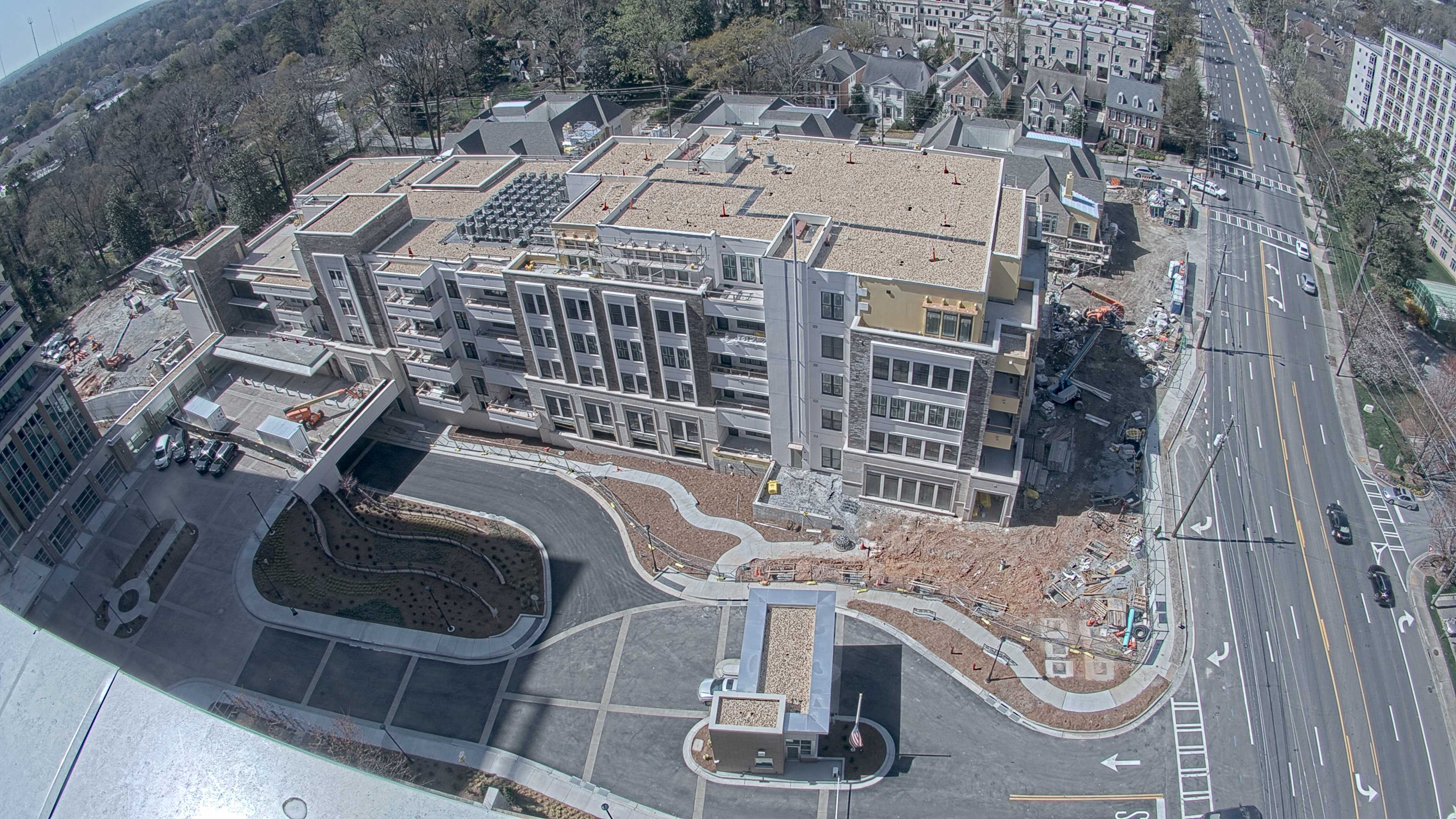 Image for Lenbrook's New Elevated Entry Plaza Unifies Existing Campus and Expansion