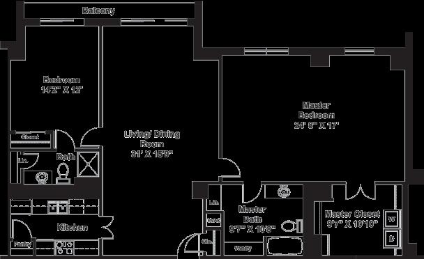 The biscayne lenbrook for Floor plans 900 biscayne