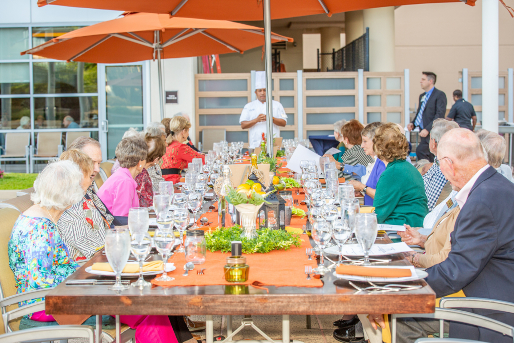 One of Lenbrook's many activities, Farm-to-Table Dinner