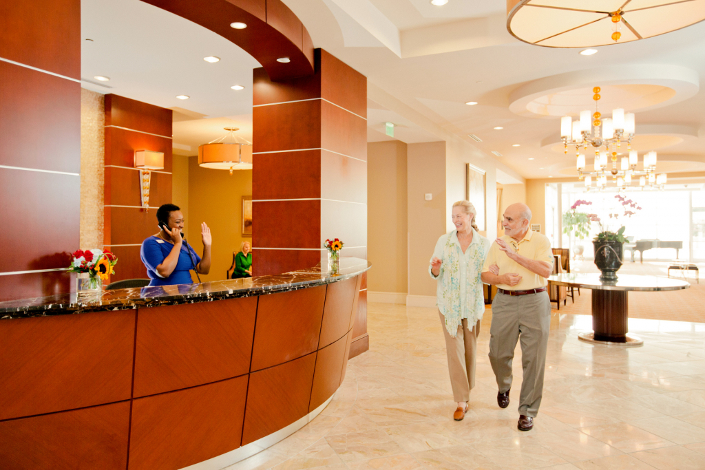 Lenbrook's concierge provides many resident services
