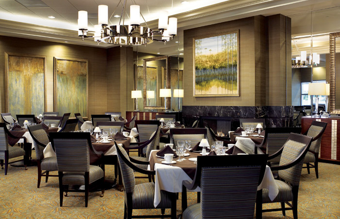 Lenbrook's fine dining room, with menus to compete with other Buckhead dining options.