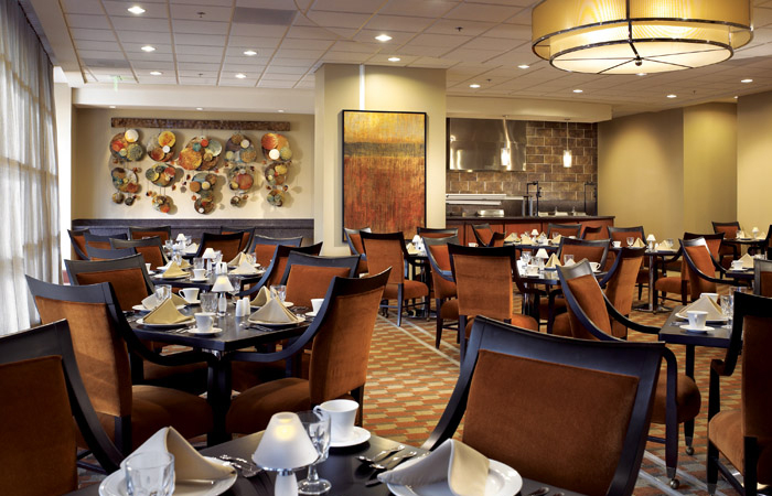 The Grill offers semi-casual dining for lunch and dinner.