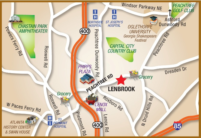 Lenbrook is located in the heart of all Buckhead has to offer.
