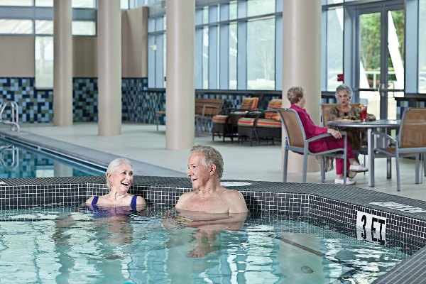 Relax in the Jacuzzi after a swim in the heated, indoor pool.