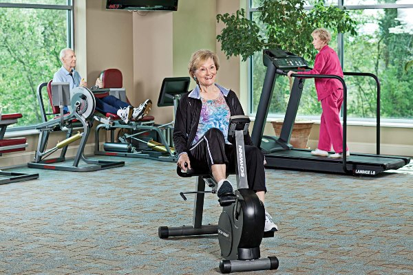 The fitness center is a key component of the overall Lenbrook Wellness Program.