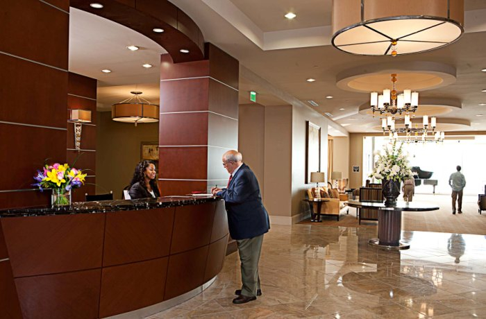 Lenbrook's concierge provides many resident services.